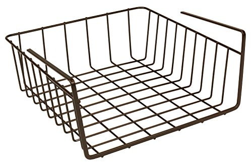 Decobros 2pk under shelf basket wrap rack bronze price for Under shelf basket wrap rack