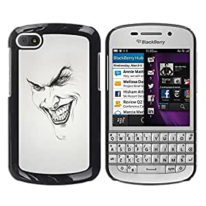LOVE FOR BlackBerry Q10 Joker Grin Face Personalized Design Custom DIY Case Cover