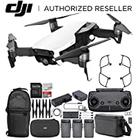 DJI Mavic Air Drone Quadcopter FLY MORE COMBO (Arctic White) Backpack Bundle