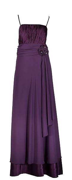 terciopelo Lebe® - Elegante gasa vestido para vestido de noche largo C654 1 piezas) en color lila, talla 34 - 50 Incluye estola: Amazon.es: Ropa y ...