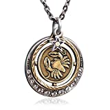 Cancer Zodiac Sign Astrology Pendant Necklace - June and July Birthday Gifts
