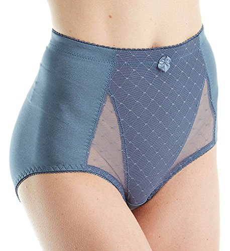 Rhonda Shear Pin Up Lace Front Brief Panty (4001) L/Gray