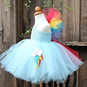 Rainbow Dash Tutu Girls Costume · Custom Made Rainbow Dash Dress ... & My Little Pony Rainbow Dash Halloween Costumes