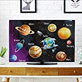 L-QN tv dust Cover Solar System of Planets Milk Way Neptune Venus Mercury Sphere Horiztal Illus Dust Resistant Television Protector W19 x H30 INCH/TV 32''