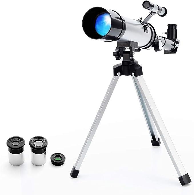Télescope Portable Astronomique Réfracteur Zoom HD Monoculaire Espace Télescope,avec Portable Trépied,Observer des Etoiles Lune Ciel pour Débutants Enfants – Ranipobo