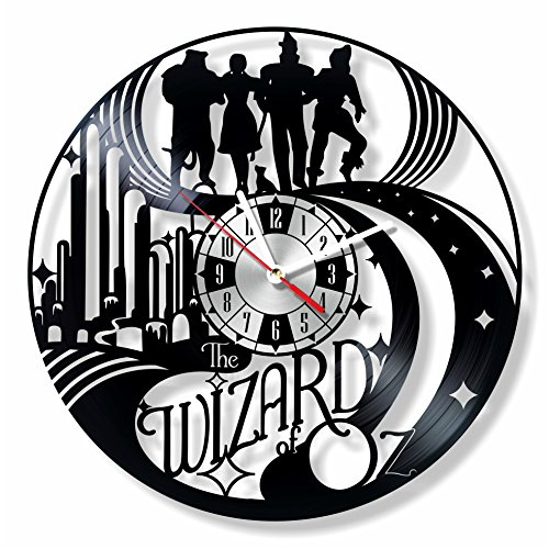 (NiceIdeas4Home The Wizard of OZ Wall Clock Made from Vintage Vinyl Record Wonderful Handmade Gift for Your Loved one)