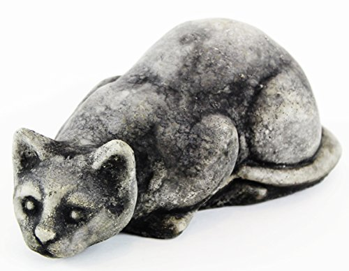 (Crouching Cat Garden Statues Concrete Statuary Cement)