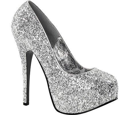 BordelloTEEZE-06G - Plataforma Mujer 37 EU|Silver Glitter