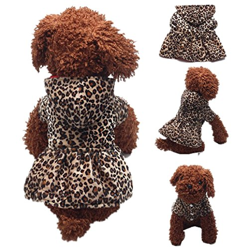 Brown Raider Adult Hat (2017 Hot Pet Hoodie! AMA(TM) Pet Puppy Small Dog Winter Warm Clothes Chihuahua Hooded Leopard Dress Hoodie Doggy Jacket Coat Outwear Apparel (L, Brown))