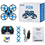Rawuin New Foldable JJRC H36 4CH 6-Axis Quadcopter Drone 2.4G 3D Anti-Crush UFO RC Quadcopter Helicopter RTF Drone With Remote Controller (Blue)