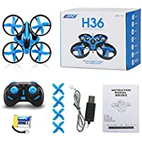 Bubile 6-Axis RC Quadcopter Helicopter 3D Anti-Crush UFO RTF Drone (Blue)