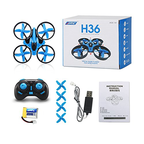 yournameI JJRC H36 2.4G 4CH 6-Axis 3D Anti-Crush Mini RC Quadcopter Helicopter RTF Drone -Blue