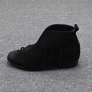 Botas de mujer Primavera Confort Casual gamuza Black