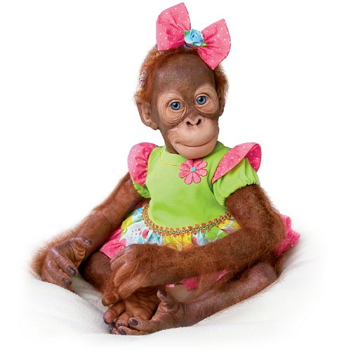 Simon Laurens Mollie the Orangutan Realistic Toddler Doll by Ashton Drake (Ashton Drake Dolls Lauren)