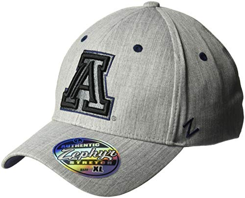 Fabric Wildcats Arizona - Zephyr NCAA Arizona Wildcats Mens Tailoredtailored Stretch Cap, Grey, Medium/Large