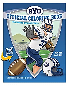 byu football coloring book collegiate coloring books llc collegiate coloring books 9780990303800 amazoncom books - Football Coloring Book