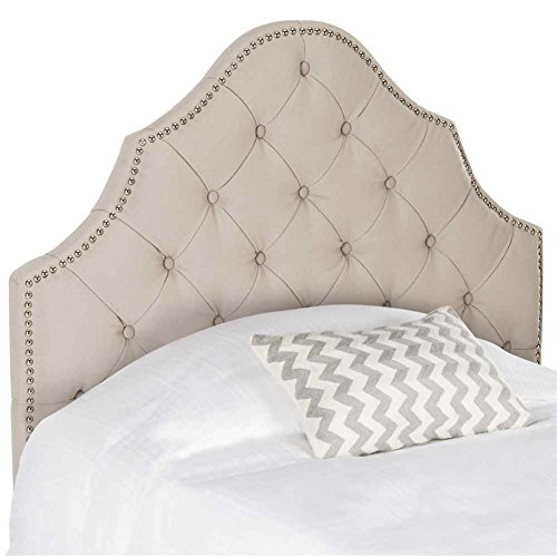 Safavieh Mercer Collection Arebelle Taupe Tufted Headboard, Twin