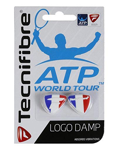Amazon Com Tecnifibre Logo Damp Tennis Racket Dampeners 2 Pack