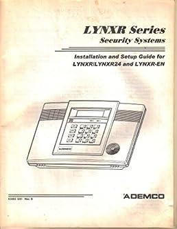 user s installation setup programming guide owner s manual lynxr l rh amazon com ademco lynxr installation manual ademco lynxr programming manual