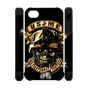 USMC Marine Corps With Skull iPhone 4 4S Best Durable Cover Case