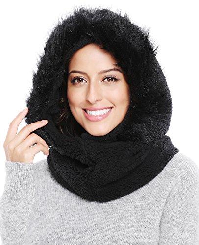 - Bellady Women/Girls Fleece Balaclava/Hooded Face Mask Neck Warmer, Black