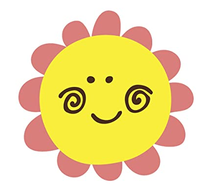 Amazon happy flower emoji vinyl decal sticker 4 wide pink happy flower emoji vinyl decal sticker 4quot wide pink mightylinksfo