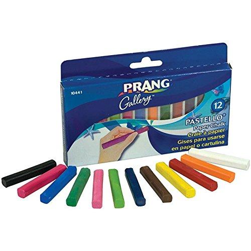 Dixon DIX10441BN Pastello Chalk Pastels, 12 Color Box, MultiPk 3 Boxes