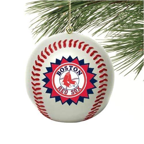 BOSTON RED SOX Mini-Replica MLB Baseball CHRISTMAS ORNAMENT (Star Design)