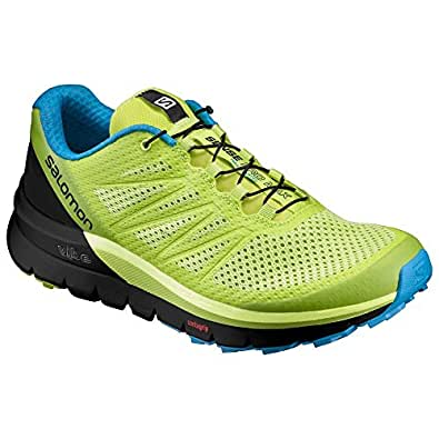 Salomon Men's Sense Pro Max Shoes Lime Punch/Black/Hawaiian Ocean 8 & Quicklace
