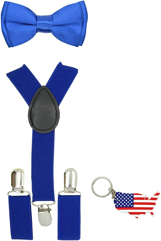 USA Navy Blue Adjustable Clip-on Suspender for Kid/'s Toddlers Boys Girls Infant