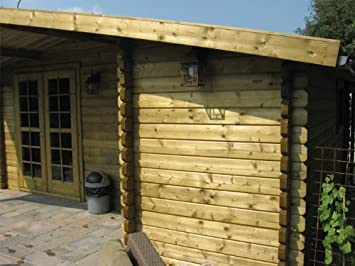 Wolfgang Log Cabin 5 3x3 0m 4 5m Amazon Co Uk Garden Outdoors