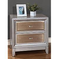 247SHOPATHOME Idf-7295SV-N, nightstand, Silver