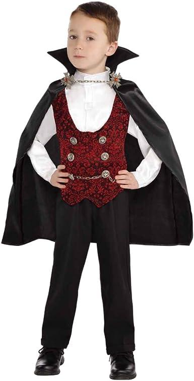 VAMPIRE CAPE TODDLER KIDS FANCY DRESS HALLOWEEN CHILDREN PARTY COSTUME 2-4