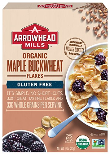 Arrowhead Mills Organic Gluten-Free Cereal, Maple Buckwheat Flakes, 10 oz. Box (Pack of 6) Arrowhead Mills Hot Cereal