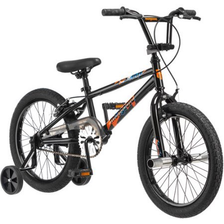 18″ Mongoose Switch Boys Freestyle Bike, Black Summer Toy Kids Outdoor Play