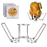Aozita Beer Can Chicken Holder for Instant Pot Accessories or Grill, Stainless Steel Poultry Roaster Cooker, Vertical Beer Can Chicken Roaster Rack
