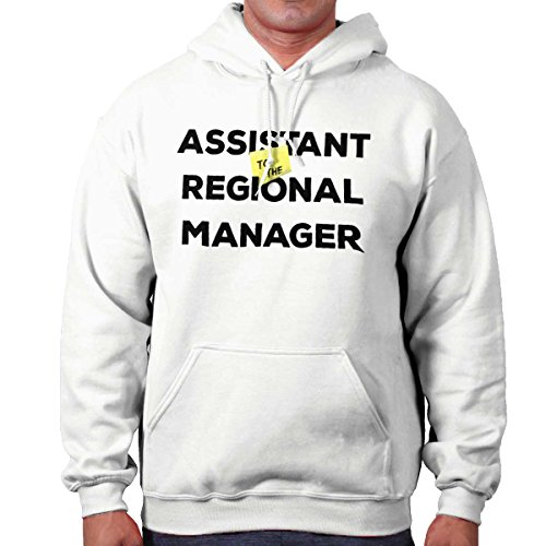 Sweatshirt Assistant Hooded (Brisco Brands Assistant to Regional Manager Show Comedy Hoodie White)