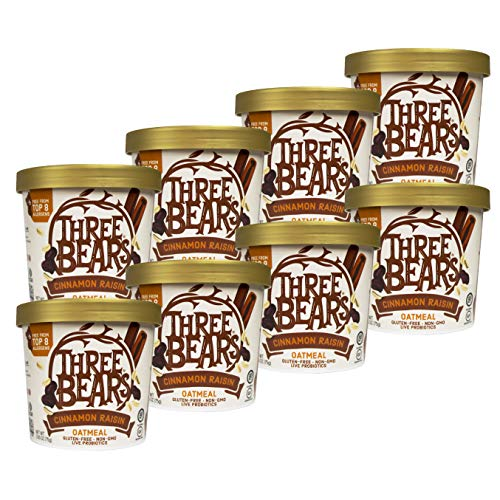 - Three Bears 2.65 oz Cinnamon Raisin Oat Cup (8 pack)