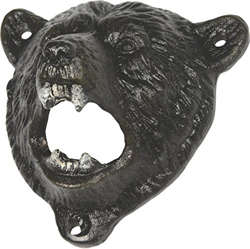 River's Edge Products Bear Cast Iron Bottle Opener