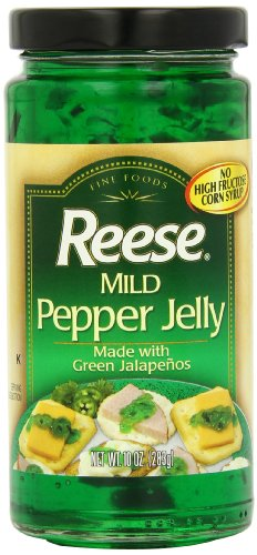 Reese Jelly, Mild Jalapeno, Jar, 10-Ounce (Pack of 6)