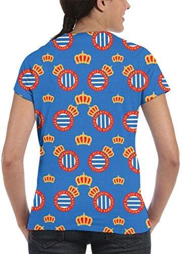 RCD-Espanyol Camiseta para Mujer, Verano Camisetas Cortas Manga ...