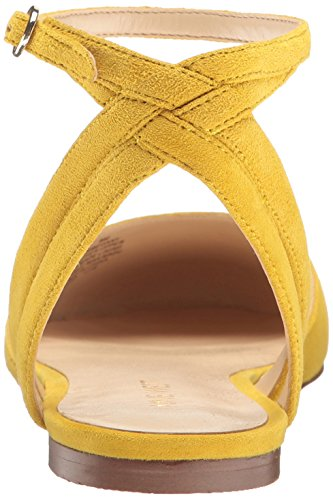 Nine West Women's Begany Suede Ballet Flat Yellow svdtqgH