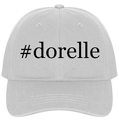 The Town Butler #Dorelle - A Nice Comfortable Adjustable Hashtag Dad Hat Cap, White