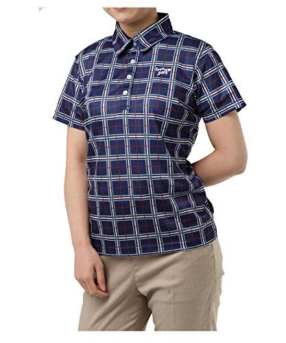 オプスト レディース ゴルフウェア ポロシャツ 半袖 チェック柄半袖シャツ OP220301H05 NV M