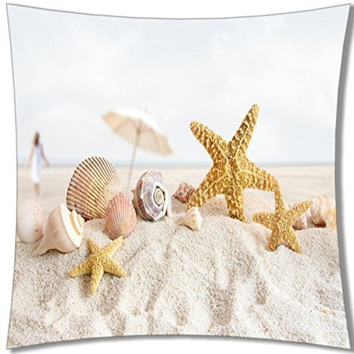 Beach theme throw pillows