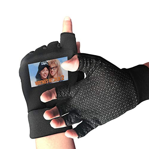 ZTZTR Wayne's World 2 Weight Lifting Gloves Breathable & Non-Slip Workout Gloves Exercise Gloves Padded Gym Gloves for Climbing Boating Dumbbells Cross Training