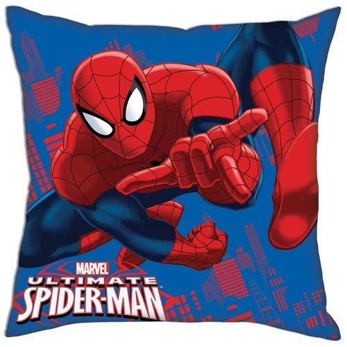 Marvel Spider-Man Cojín 1, poliéster, Rojo/Azul: Amazon.es ...