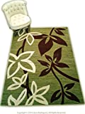 Lovely Green Machine Made Area Rug , Exact 5.3 ft x 7.4ft 100% Polypropylene ON SALE! Review