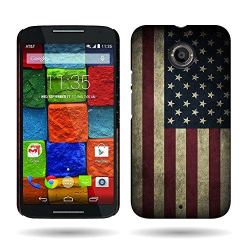 Motorola Moto X (2nd Generation) Case, by CoverON Ultra Slim Design Hard Case for Motorola Moto X (2nd Generation, 2014) - USA American Flag