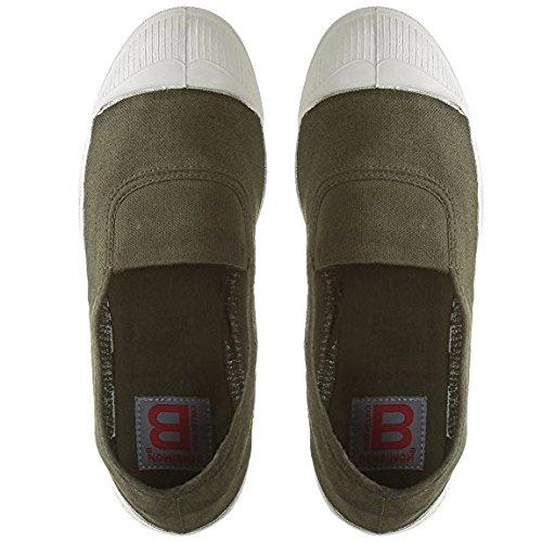 Bensimon - Zapatillas de Tela para Mujer Verde Verde Oliva: Bensimon: Amazon.es: Zapatos y complementos